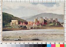 Conwy Castle from Deganwy L & NW railway vintage postcard LNWR