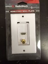 RadioShack HDMI Coax TV Decorator Wall Plate Cover Jack 1080P HD Coaxial