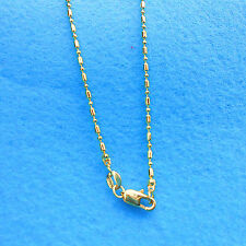 """Wholesale 1PCS 18"""" Fashion Jewelry 18K Gold Filled Column Ball Chains Necklaces"""