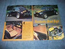 "1969 VW Custom Baja Bug Vintage Article ""Kentucky-Bred Baja"""
