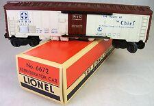 LIONEL POSTWAR 6672 SANTA FE REFRIGERATOR CAR EXCELLENT with REPRODUCTION BOX