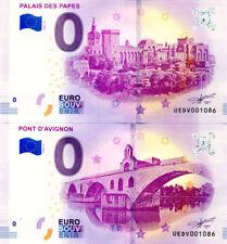 84 AVIGNON Palais des Papes 3 et pont, Mêmes N°, 2018, Billet 0 € Souvenir