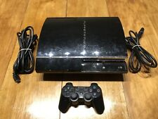 Sony PlayStation 3 80GB Console Bundle CECHE01 Backwards Compatible PS1 PS2 PS3
