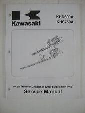 Kawasaki Hedge Trimmer Service Manual KHD600A KHS750A Repair Book Booklet