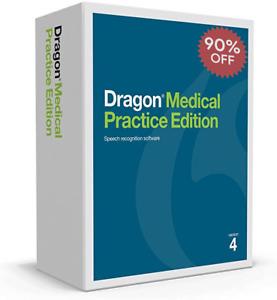 Dragon Medical Practice Edition v4 Speech Recongition Software - English
