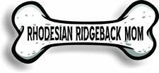 "Dog Mom Rhodesian Ridgeback Bone Car Magnet Bumper Sticker 3""x7"""