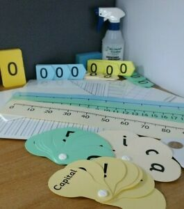 Student Literacy Numeracy Parent Teaching Aids Number Letters Fan Card Grid Line
