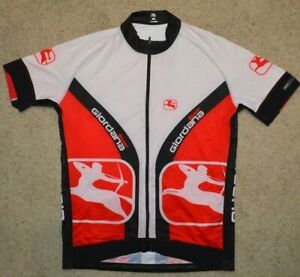 Team Giordana Full Zip Cycling Jersey Men's Size Large Made In Italy BodyClone