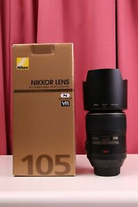 Nikon AF-S MICRO 105mm F/2.8G VR IF-ED Macro 1:1 Lens with BOX