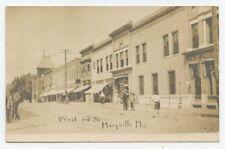 MARYVILLE, MO ~ Third Street, businesses ~ early RPPC postcard ~ Missouri