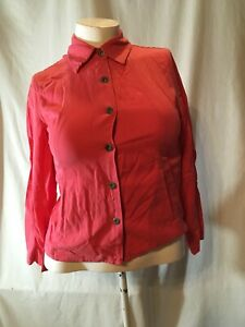 EUC COLDWATER CREEK CORAL WOMENS PETITE SIZE SMALL PS TENCEL JEAN CASUAL JACKET