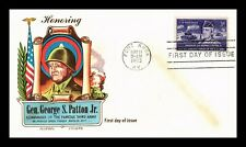 DR JIM STAMPS US GENERAL PATTON FIRST DAY COVER SCOTT 1026 FLUEGEL UNSEALED