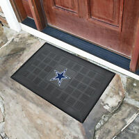 NFL - Dallas Cowboys Medallion Heavy Duty Durable Vinyl Doormat - 3-D logo