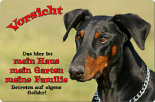 DOBERMANN - A4 Metall Warnschild SCHILD Hundeschild Alu Türschild - DBM 27 T1