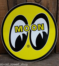 "5"" MOON LOGO STICKER DECAL RAT HOT ROD DRAG RACING NHRA GASSER VTG STYLE TANK"