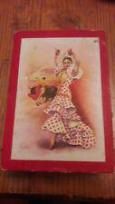 Vintage Cardboard Box - Flamenco Dancer and Bull