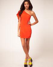 Vestido 1 manga naranja Vero Moda // Vero Moda 1 sleeve orange coral dress