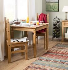 Small Dining Table and 2 Chairs Kitchen Square Furniture Wooden Breakfast Set