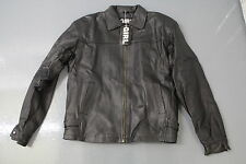 *** BRAND NEW LADIES SMALL LEATHER JACKET BY 'GIRL TALK' IN BLACK ***