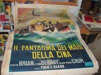 IL FANTASMA DEI MARI DELLA CINA manifesto 2F originale 1958