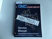 1995 OMC Cobra Stern Drives Vertical Drive / Transom Bracket Service Manual OEM