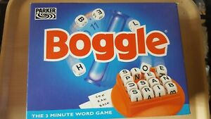BOGGLE BY PARKER VINTAGE RETRO 3 MINUTE WORD GAME 1996 100% COMPLETE VGC