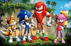 A3 SONIC THE HEDGEHOG POSTER PRINT WALL ART - BUY2GET1FREE (SON4) - TAILS/MARIO