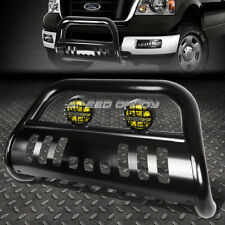 BLACK BULL BAR GUARD+YELLOW FOG LIGHT FOR 04+ FORD F150 NON-ECOBOOST/EXPEDITION