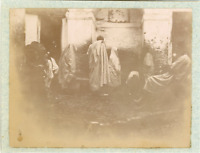 Algérie, Alger, Scène à la fontaine  Vintage citrate print. Vintage Algeria  T