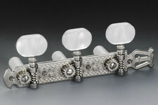 Genuine Schaller Germany Classical Guitar Lyra Tuners 3x3 Nickel with Pearloid
