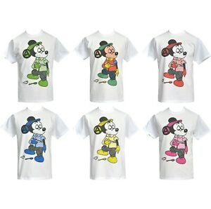Mens Seditionaries T-Shirt Original 1977 Punk Rocker Micky Mouse Cartoon