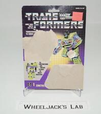 Bonecrusher Devastator Cardback Vintage 1985 G1 Transformers Action Figure