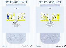 BRD 2007: Post-Bildergeschichten! Ersttagsblätter Nr. 2596+2597+2620+2621! 1601