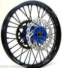 WARP 9 COMPLETE WHEEL SET YAMAHA YZ YZF WR 250 450 BLUE HUBS AND NIPPLES