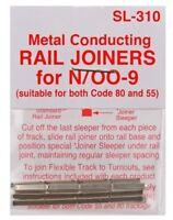 PECO 'N' Gauge Code 80 & 55 Model Rail Track Joiners 1 x Pack 24 SL-310 1st Post