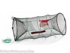 1 X CRAB SHRIMP CRAYFISH TRAP CAGE POT SEA FISHING TACKLE PRAWN LOBSTER NET 90CM