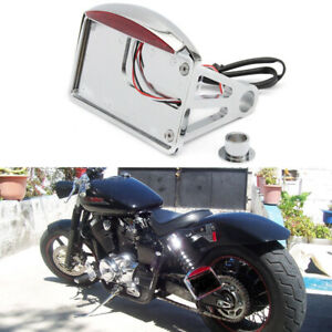 Motorcycle Side Mount License Plate Holder Tail Light For Honda Shadow ACE VT750