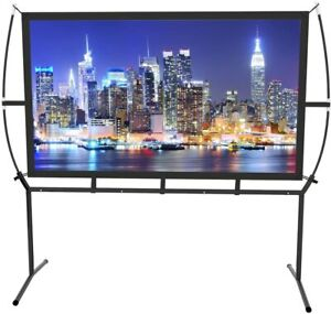 """100"""" Home Cinema Projector Screen with Stand Mobile Easy Install"""