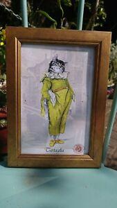 Venezia Cartaglia Aristocracy Cat Gilt Framed Print