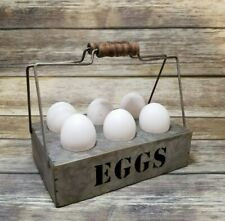 Primitive Metal Vintage inspired Egg Holder Country/Farmhouse Nice Collectible