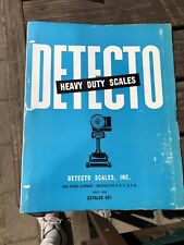 Detecto Heavy Duty Scales Catalog 1964 Brooklyn New York Detecto Scales Inc Ncr