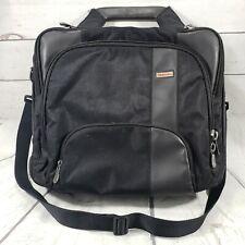 Toshiba Laptop Briefcase Carrier Carrying Case Shoulder Strap Bag Black Used