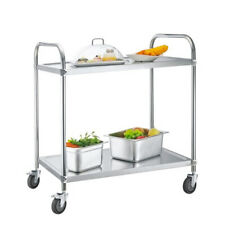 More details for commercial stainless steel catering trolley kitchen utility serving table cart