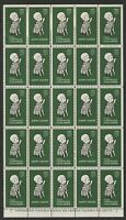 CANADA 1962 BLOCK OF 25 EASTER / CRIPPLED CHILD CINDERELLA LABELS MNH