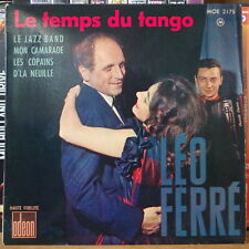 LEO FERRE LE TEMPS DU TANGO  FRENCH EP DISQUES ODEON 1961