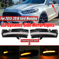 2PCs Clear Dynamic LED Turn Signal Mirror Indicator Light For Ford Mondeo  D*//