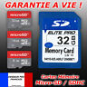 Carte mémoire SD microSD micro SDXC SDHC Class 6 / 10 ULTRA  4 8 16 32 64 Go Gb
