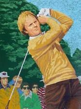 """FRAMED """"JACK NICKLAUS AT THE MASTERS"""" by RICK RUSH! L/E SERIGRAPH ON PAPER!"""