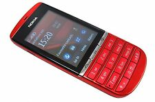 New Nokia Asha 300 Red 3G Unlocked Mobile Phone Boxed Touch screen