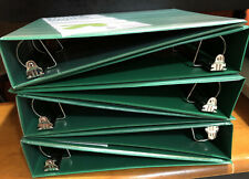 Lot Of 6 1 12 Inch 3 Ring Sturdy D Ring Binders Green 375 Sheets